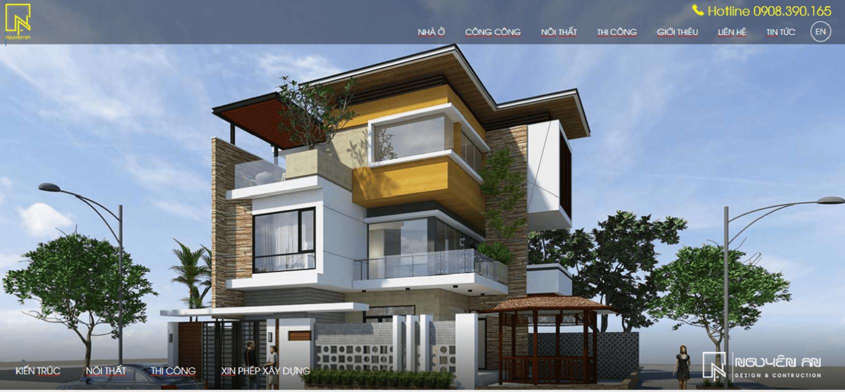 công ty thiết kế kiến trúc và xây dựng Nguyên An