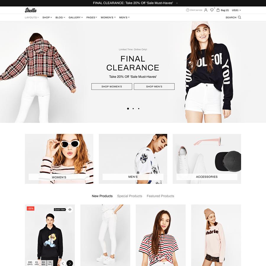 Thiết kế website bán quần áo